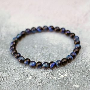Blue Tigers Eye Bracelet 6mm