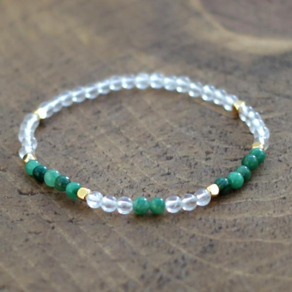 Crystal Quartz & Jade Bracelet