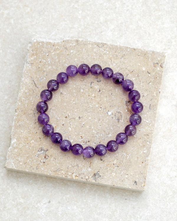 Amethyst Bracelet 8mm