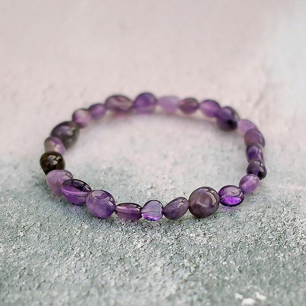 Amethyst Pebble Bracelet