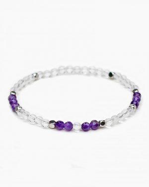 Crystal Quartz Amethyst Bracelet
