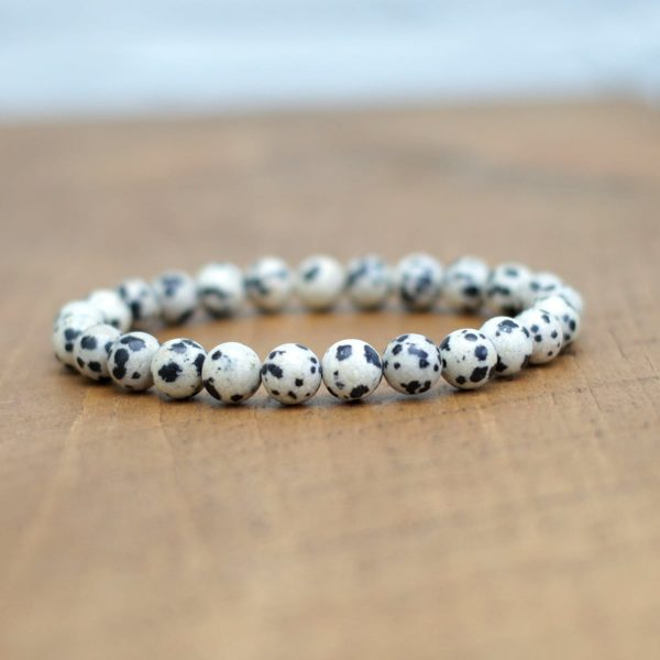 Dalmatian Jasper Bracelet 8mm