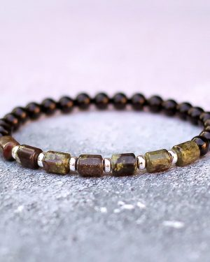 Dragon Blood Jasper Black Onyx Bracelet