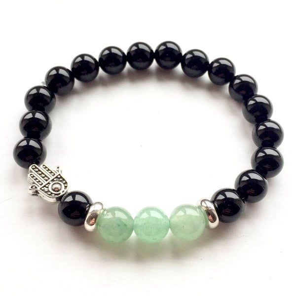 Emotion & Thought Aventurine Hamsa Bracelet