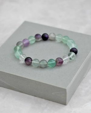 Multicolour Fluorite Bracelet 8mm