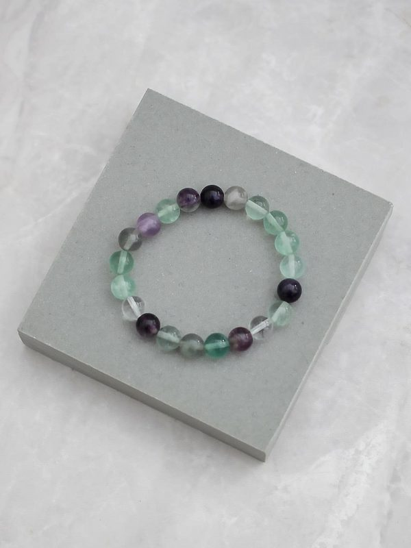 Multicolour Fluorite Bracelet 8mm