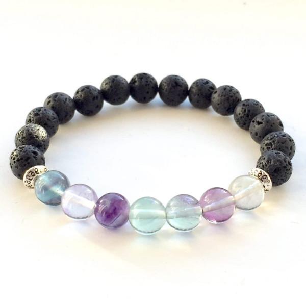 Fluorite Lava Stone Diffuser Bracelet