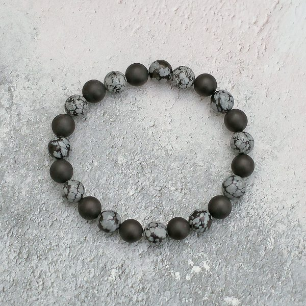 Frosted Onyx Snowflake Obsidian