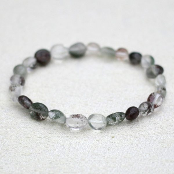 Green Lodolite Pebble Bracelet