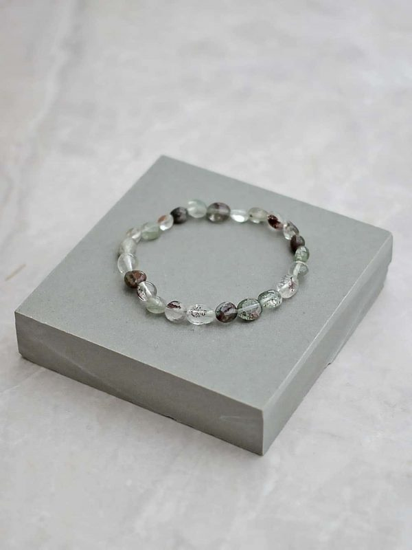Green Lodolite Pebble Bracelet
