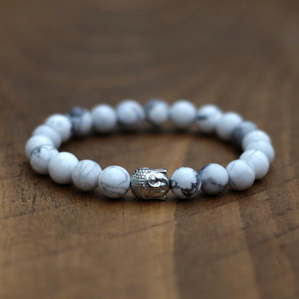 Howlite Buddha Bracelet