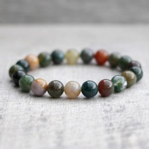 Indian Agate Bracelet 8mm