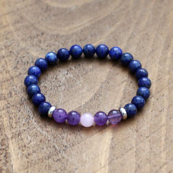 Lapis Lazuli, Amethyst, Rose Quartz