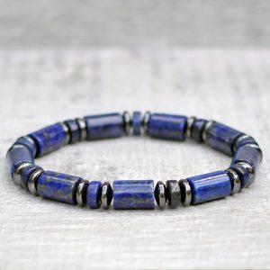 Lapis Lazuli Column Bracelet