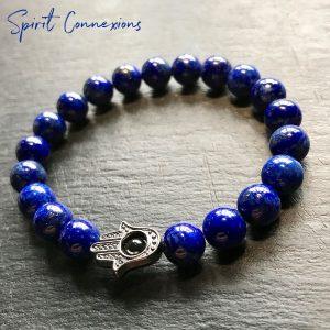 Lapis Lazuli Hamsa Bracelet