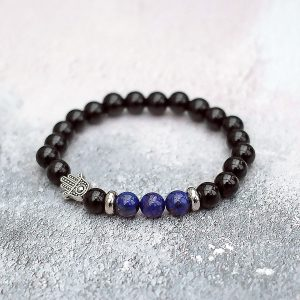 Protection & Peace Lapis Lazuli Hamsa Bracelet