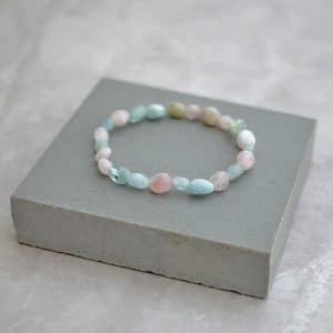 Morganite Pebble Bracelet