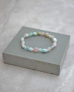 Morganite Pebble Bracelet