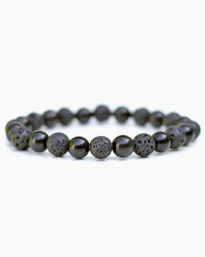 Obsidian & Lava Diffuser Bracelet