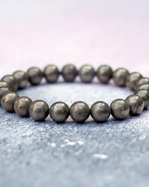 Dark Golden Pyrite Bracelet 8mm