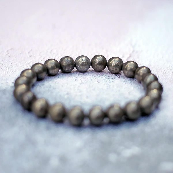 Dark Golden Pyrite Bracelet 8mm