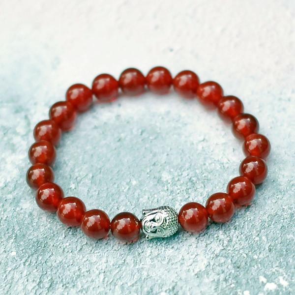 Carnelian Buddha Bracelet