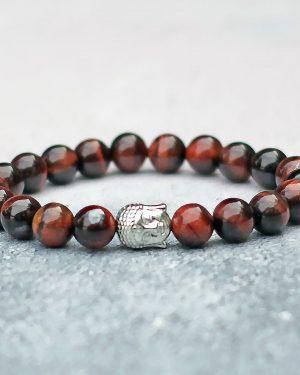 Red Tigers Eye Buddha Bracelet