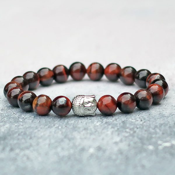 Red Tigers Eye Buddha Bracelet