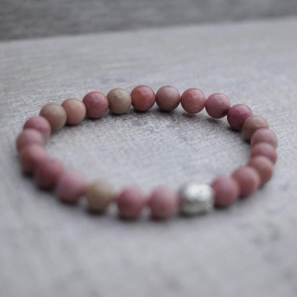 Rhodochrosite Buddha Bracelet