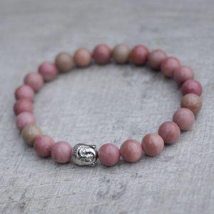 Rhodonite Buddha Bracelet