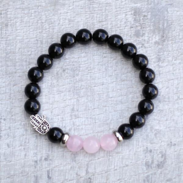 Rose Quartz Hamsa Bracelet by Spirit Connexions