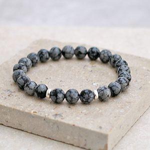 Snowflake Obsidian Bracelet