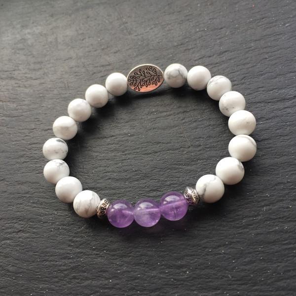 Howlite Amethyst Bracelet