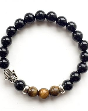 Grounding Tigers Eye Hamsa Bracelet