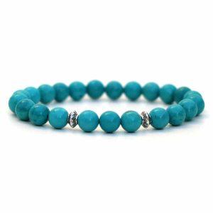 Genuine Turquoise Bracelet 8mm