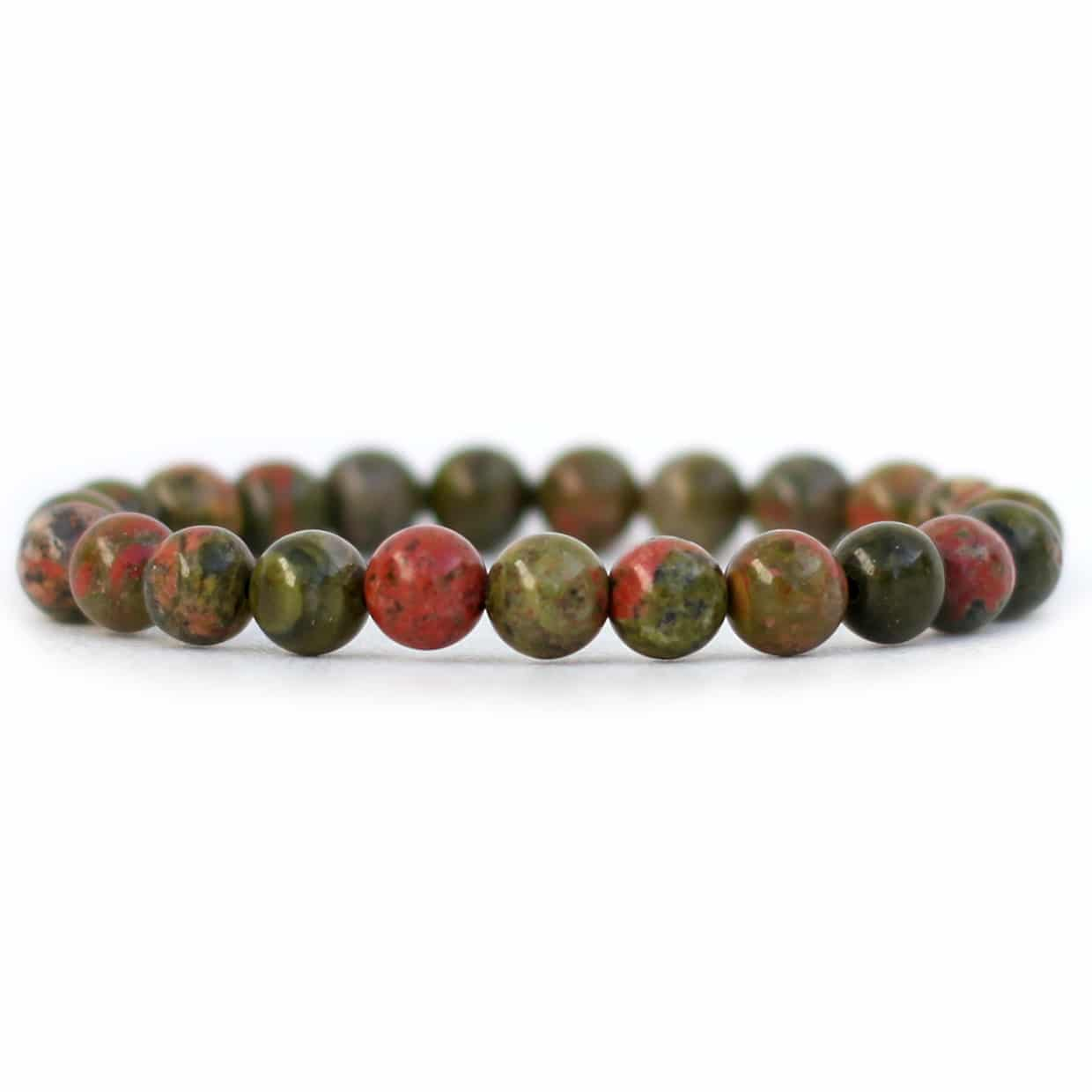 unakite il and beads natural fullxfull pink gemstone listing green