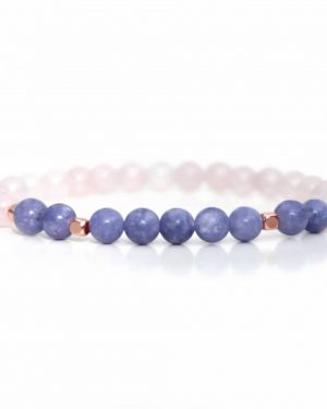 Angelite & Rose Quartz Bracelet 6mm