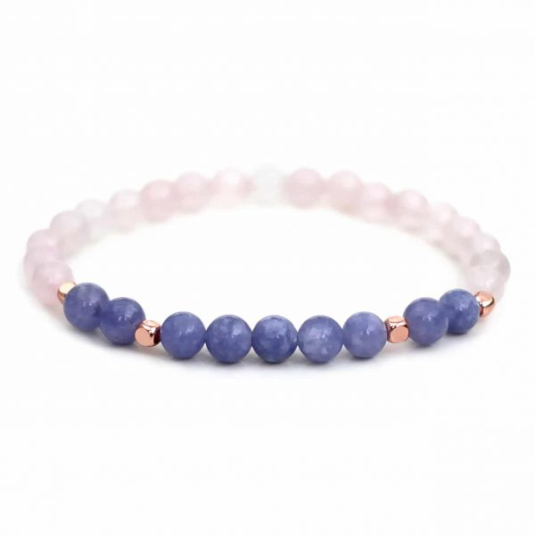 Angelite Rose Quartz Bracelet