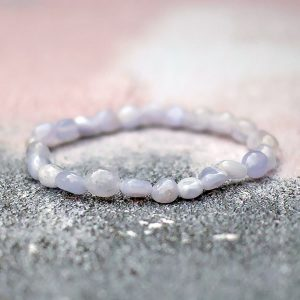 Blue Lace Agate Pebble Bracelet