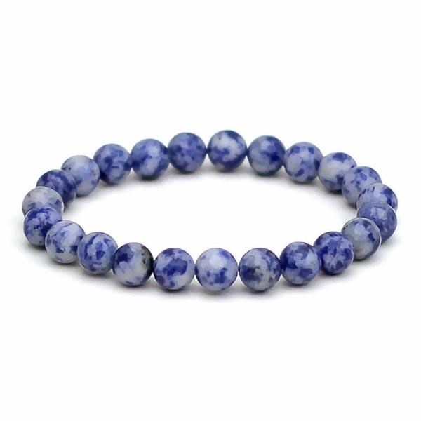 Blue Spot Stone Bracelet 8mm