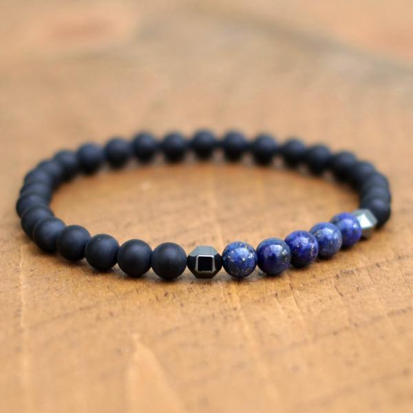 Lapis Lazuli Black Onyx Bracelet