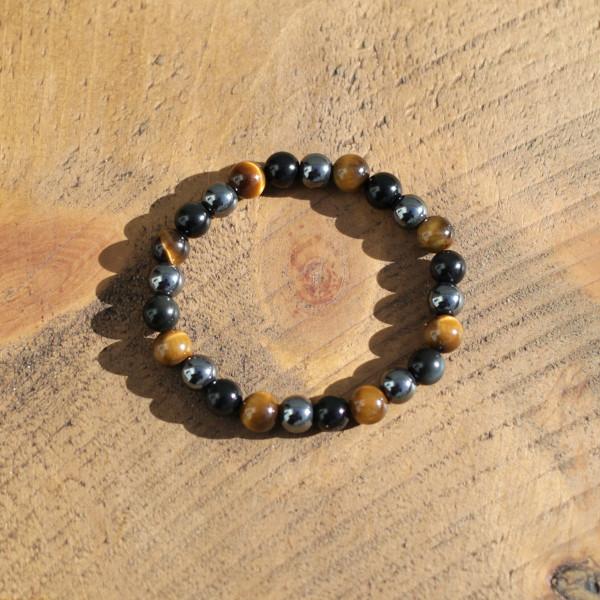 Obsidian, Tigers Eye, Hematite Bracelet