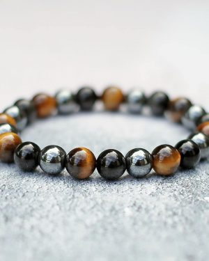 Obsidian, Tigers Eye & Hematite