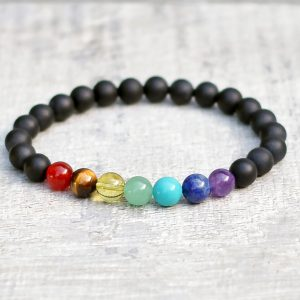 Frosted Onyx Chakra Bracelet - Spirit Connexions