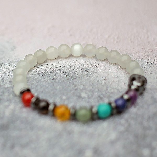 Moonstone Chakra Balance Buddha Bracelet