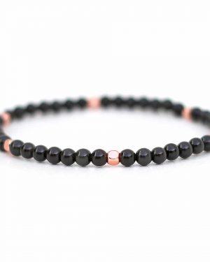 Rose Gold Obsidian Bracelet