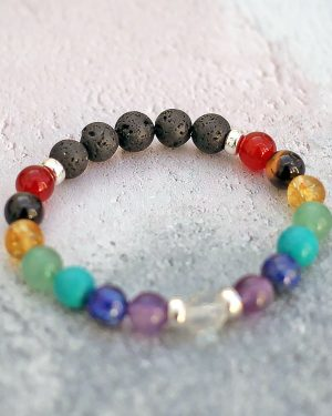 Higher Self Chakra Bracelet Lava Diffuser