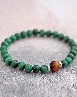 Malachite Tigers Eye Bracelet