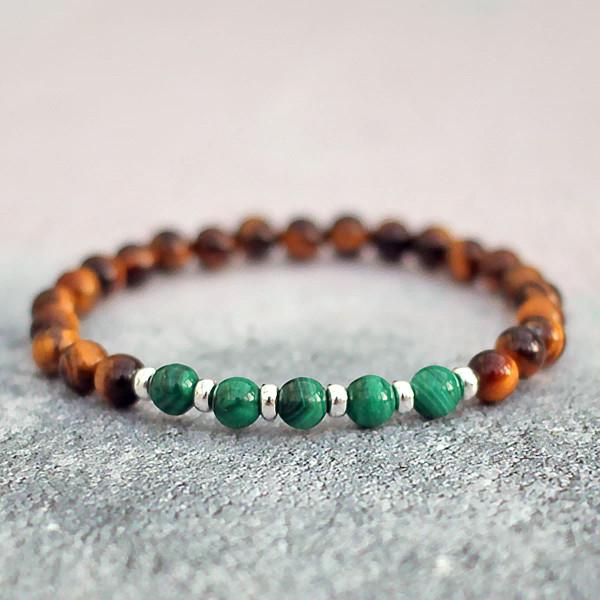 Tigers Eye Malachite Bracelet
