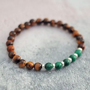 Tigers Eye Malachite Bracelet